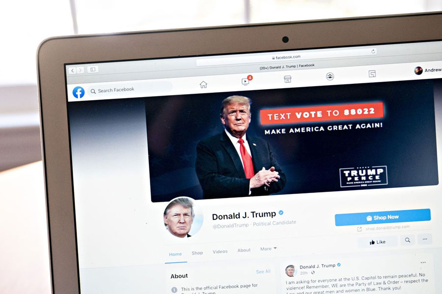 Donald Trump suspended from Facebook for 2 years
